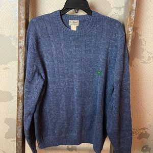 L.L Bean cable knit sweater M NWOT